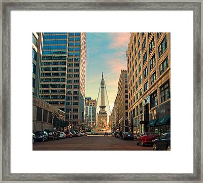 Monument Circle - Indianapolis Framed Print by Mark Orr