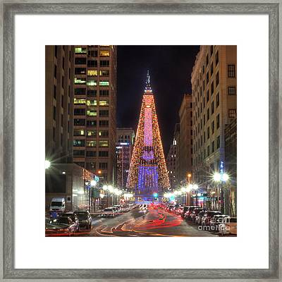 Monument Circle Framed Print by Twenty Two North Photography