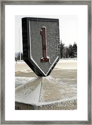 Monument Commemorating The 1st Infantry Framed Print
