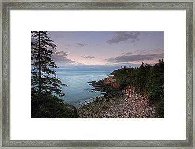 Monument Cove Maine Acadia National Park Framed Print by Juergen Roth