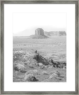 Monument In A Higher Key Framed Print by Joseph Smith