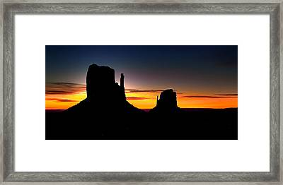Monumental Morning Framed Print