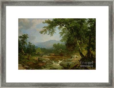 Monument Mountain - Berkshires Framed Print by Asher Brown Durand