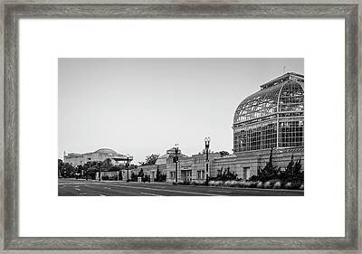 Framed Print featuring the photograph Monument Museum And Garden In Black And White by Greg Mimbs