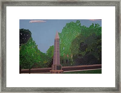 Monument Of The Revolutionary War Of 1776 Framed Print by William Demboski