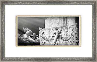 Monument Particular In Rome Framed Print by Stefano Senise