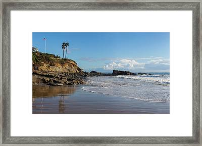 Framed Print featuring the photograph Monument Point At Low Tide by Cliff Wassmann