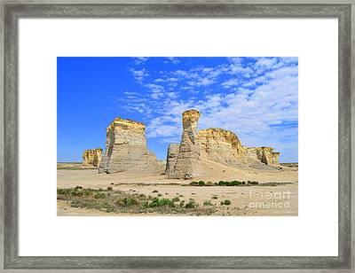 Monument Rocks In Kansas 2 Framed Print