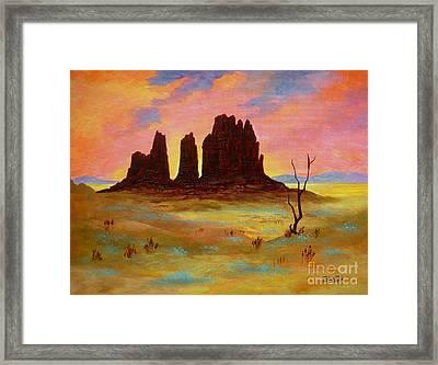 Monument Framed Print by Shasta Eone