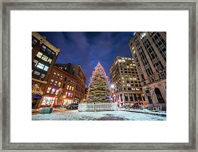 Monument Square Tree Framed Print