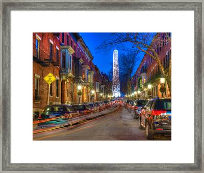 Monument Street Charlestown 023 Framed Print