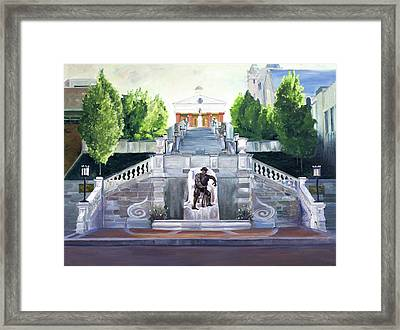 Monument Terrace Framed Print by J Luis Lozano