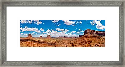 Monument Valley - The Large One Framed Print by Andreas Freund