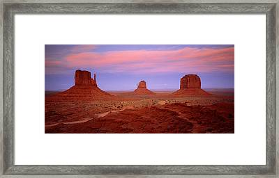 Monument Valley Azut Usa Framed Print by Panoramic Images