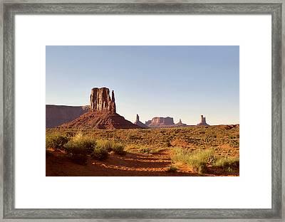 Monument Valley Calm Framed Print by Gordon Beck