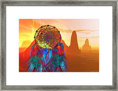 Monument Valley Dream Catcher Framed Print by Carol and Mike Werner