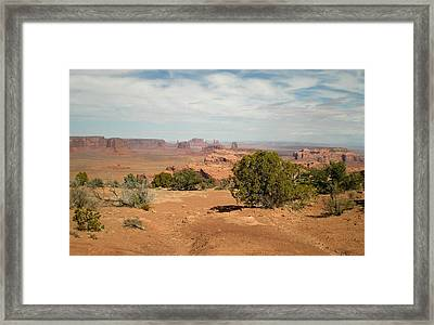 Framed Print featuring the photograph Monument Valley by Fred Wilson