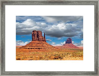 Monument Valley Framed Print by Jon Manjeot