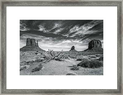 Framed Print featuring the photograph Monument Valley by Lou Novick