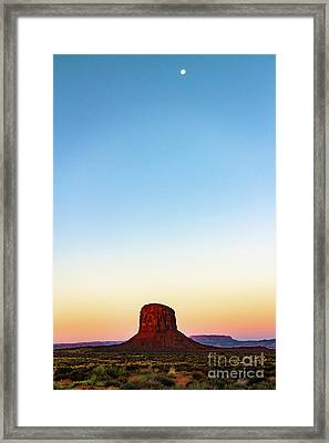 Monument Valley Morning Glory Framed Print