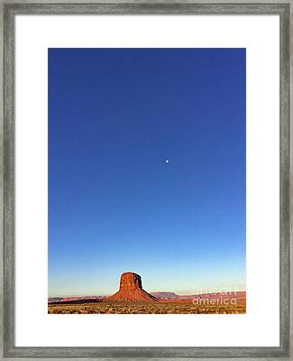 Monument Valley Morning View Framed Print