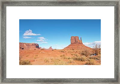 Framed Print featuring the photograph Monument Valley National Park In Arizona, Usa by Josef Pittner