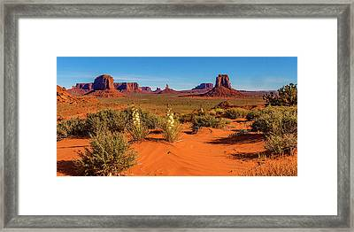Framed Print featuring the photograph Monument Valley by Norman Hall