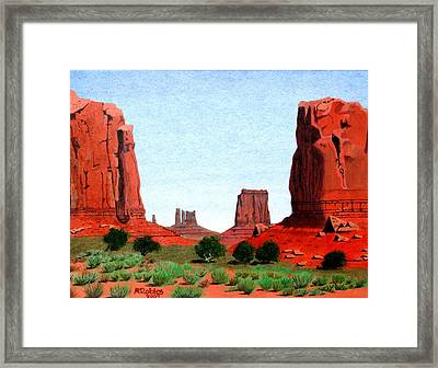 Monument Valley North Window Framed Print by Mike Robles