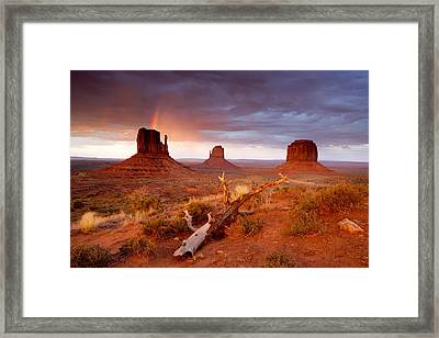 Monument Valley Rainbow Framed Print by Eric Foltz