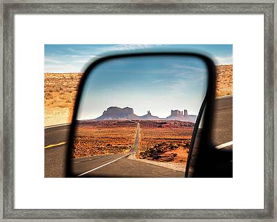 Monument Valley Rearview Mirror Framed Print
