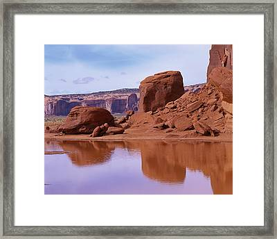 Monument Valley Reflection Framed Print