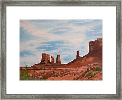 Monument Valley Framed Print by Robert Silvera