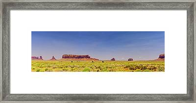 Monument Valley South View Framed Print