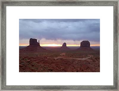 Monument Valley Sunrise Framed Print by Gordon Beck