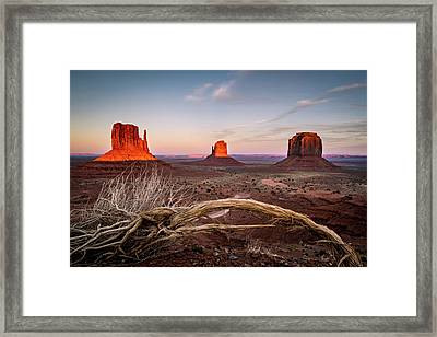 Monument Valley Sunset Framed Print