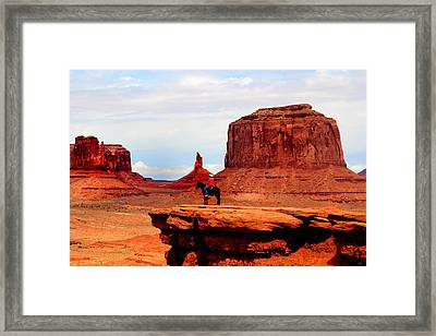 Monument Valley Framed Print by Tom Prendergast