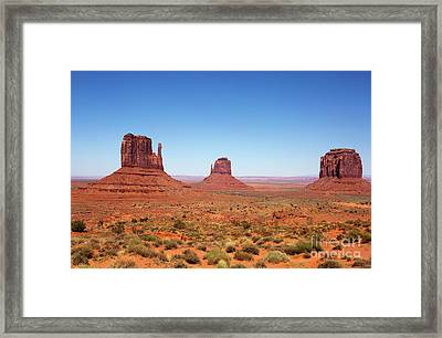 Monument Valley Utah The Mittens Framed Print