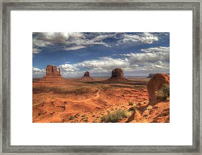 Monument Valley View Framed Print