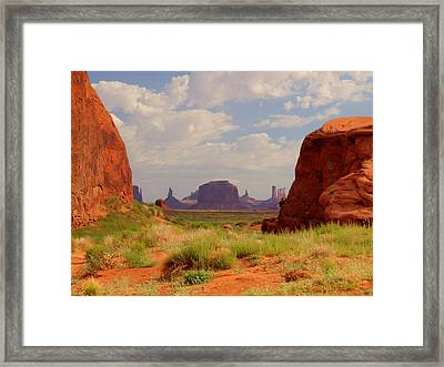Monument Valley View Framed Print by Phil Stone