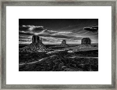 Monument Valley Views Bw Framed Print