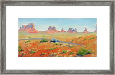 Monument Valley Vintage Framed Print by Elizabeth Jose