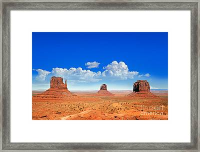 Monument Vally Buttes Framed Print by Jane Rix