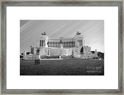 Monumental Architecture In Rome Framed Print