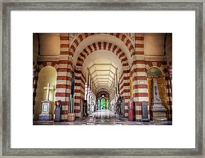 Framed Print featuring the photograph Monumental Cemetery In Milan Italy  by Carol Japp