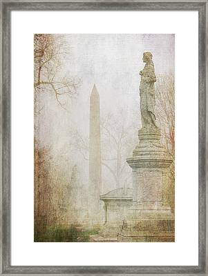 Monumental Fog Framed Print by Heidi Hermes