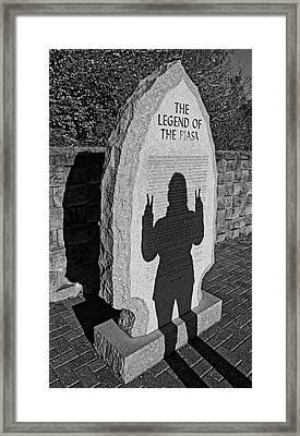 Monumental Shadows Peace Out Framed Print