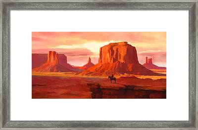 Monumental Sunset Framed Print