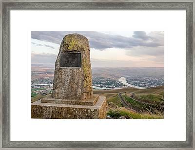 Monumental View Framed Print by Brad Stinson