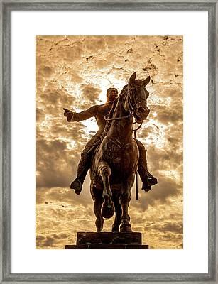 Framed Print featuring the photograph Monumento A Calixto Garcia Havana Cuba Malecon Habana by Charles Harden