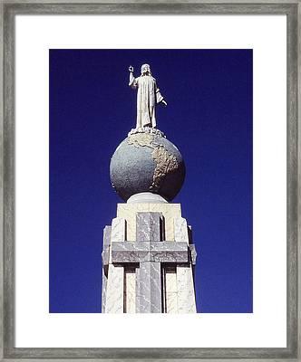 Monumento Al Divino Salvador Del Mundo Framed Print by Juergen Weiss